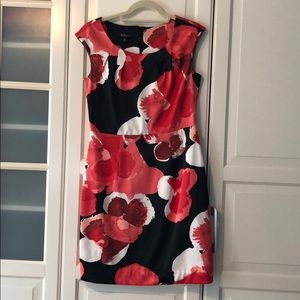 Silk like floral dress